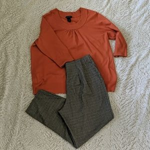 Lane Bryant burnt orange top size 18/20